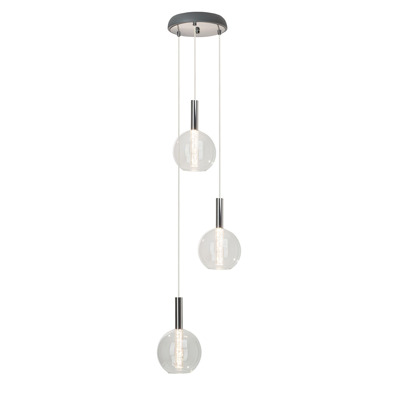 home24 LED-Pendelleuchte Elegant 3-flammig