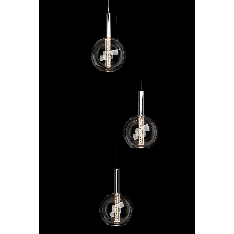 home24 LED-Pendelleuchte Elegant 3-flammig