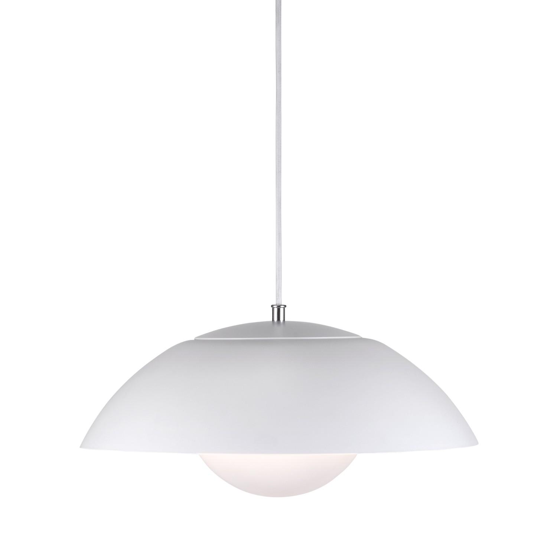 EEK A+, LED-Pendelleuchte Elevate I - Kunststoff / Stahl - 1-flammig - Weiß / Silber, Nordlux