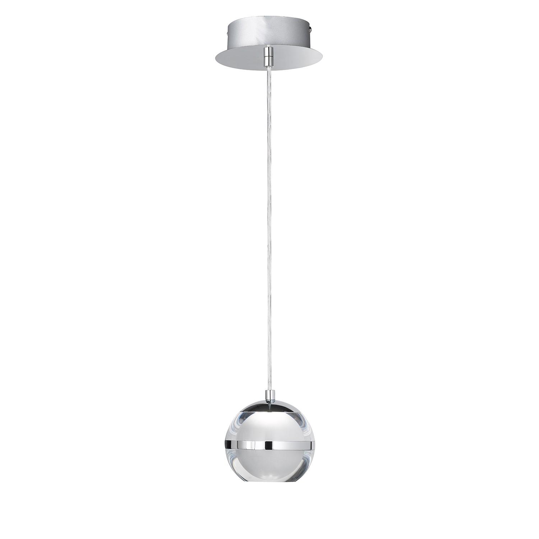 EEK A+, LED-Pendelleuchte Fulton - Metall / Acrylglas - 1, Wofi