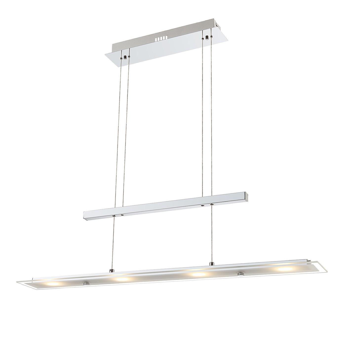 home24 LED-Pendelleuchte Janick 4-flammig