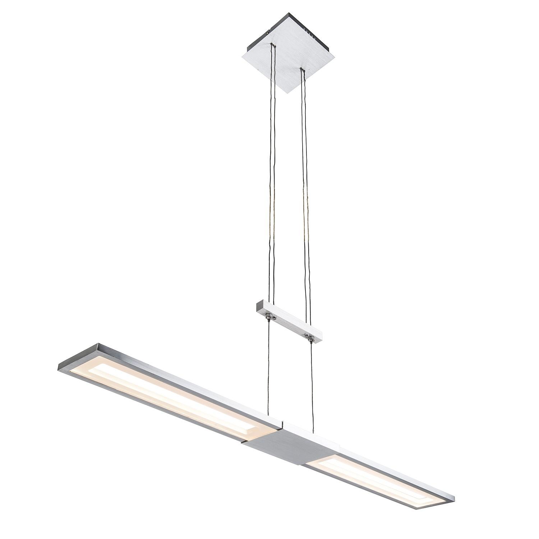 EEK A+, LED-Pendelleuchte Jano I - Aluminium / Acryl - 1-flammig, Nino Leuchten