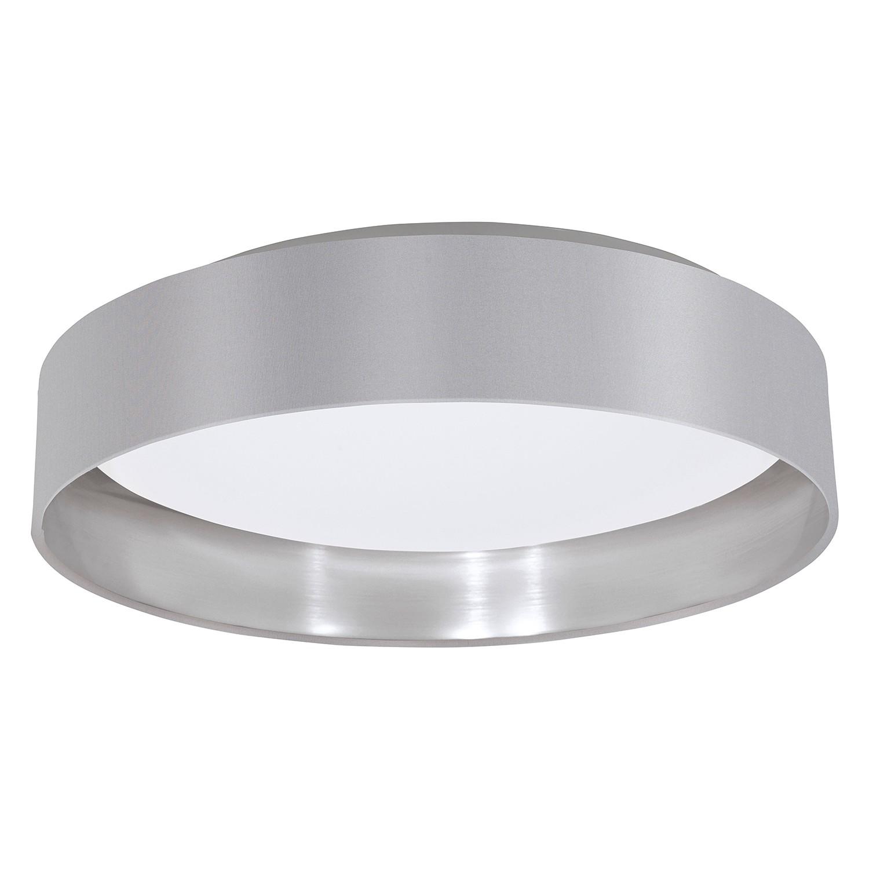 EEK A+, LED-Deckenleuchte Maserlo IV - Webstoff / Kunststoff - 1-flammig - Grau / Silber, Eglo