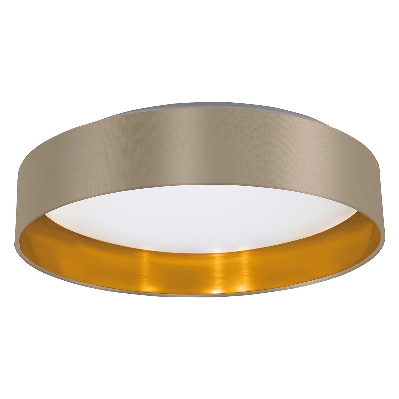 EEK A+, LED-Deckenleuchte Maserlo IV - Webstoff / Kunststoff - 1-flammig - Taupe / Gold, Eglo