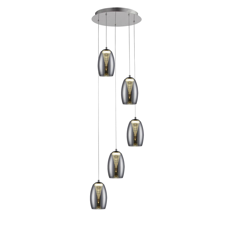 home24 LED-Pendelleuchte Metropolis Spiral V