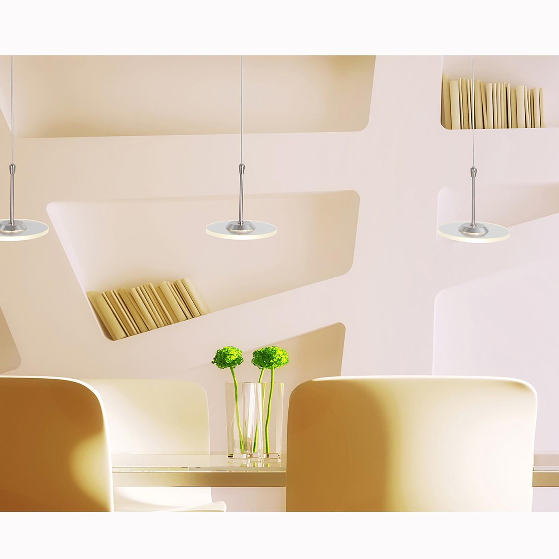 home24 LED-Pendelleuchte Santander 3-flammig