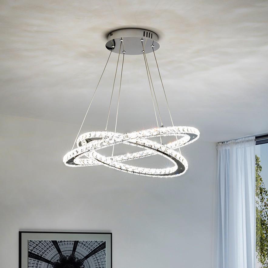 home24 LED-Pendelleuchte Varrazo