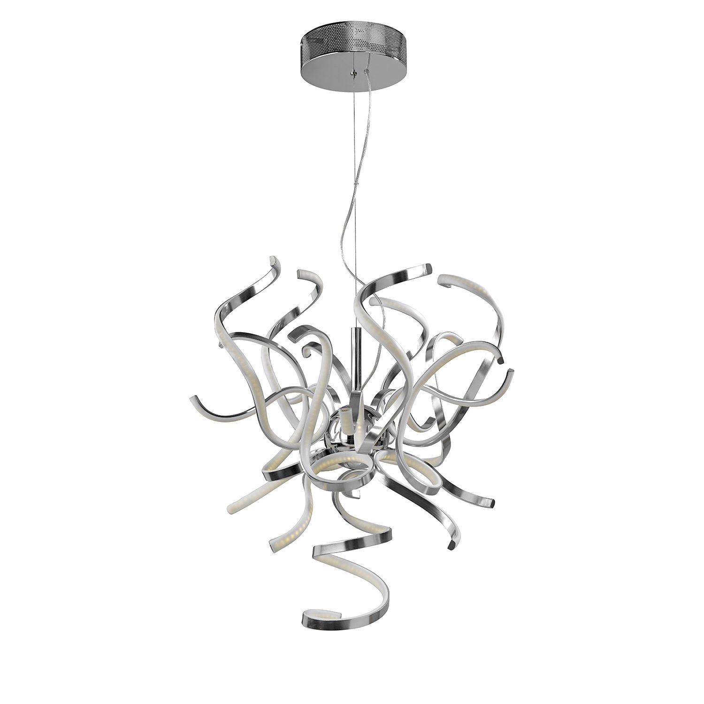 EEK A+, LED-Pendelleuchte Weed - Aluminium/Sili...