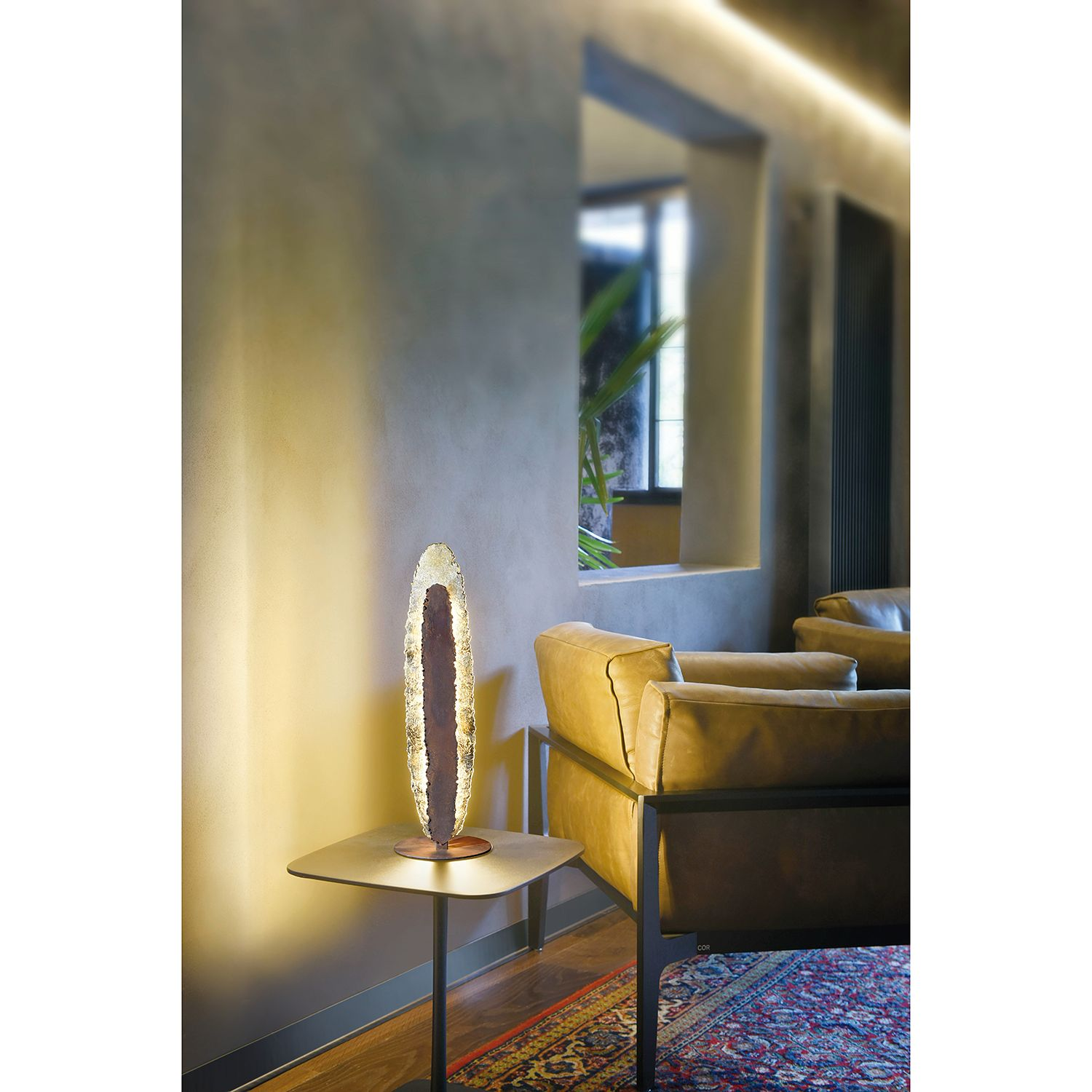 home24 LED-Stehleuchte Nevis Lava II