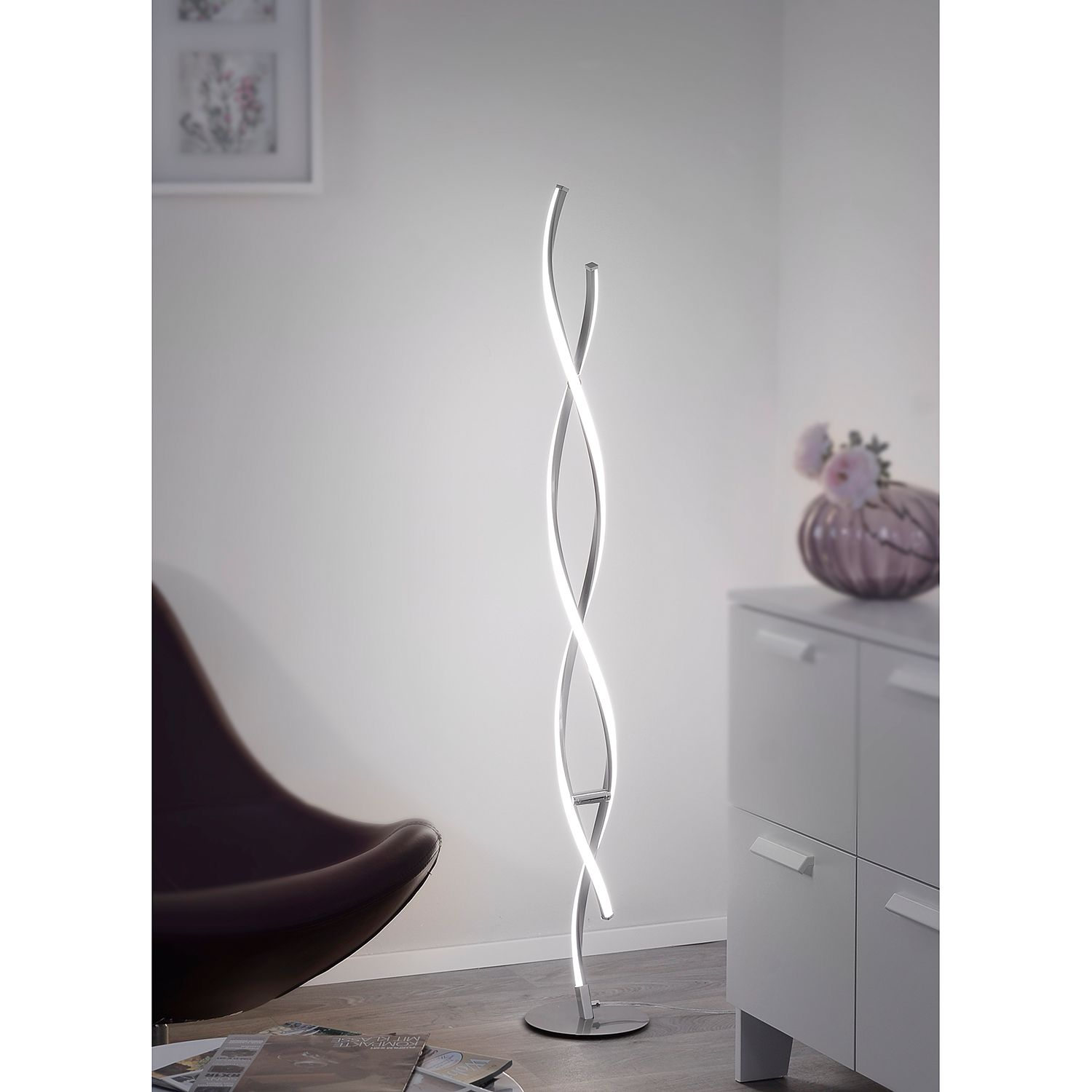 home24 LED-Stehleuchte Polina