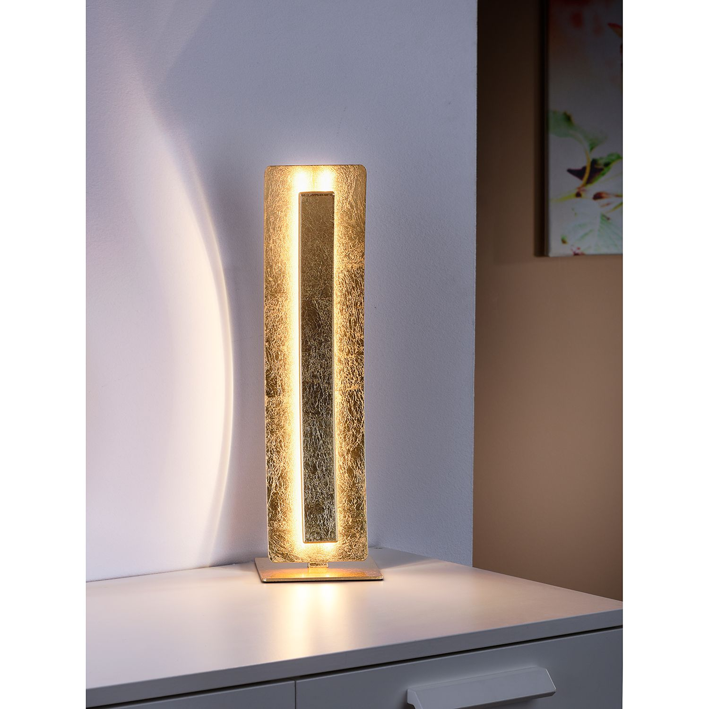 home24 LED-Tischleuchte Nevis Leaf