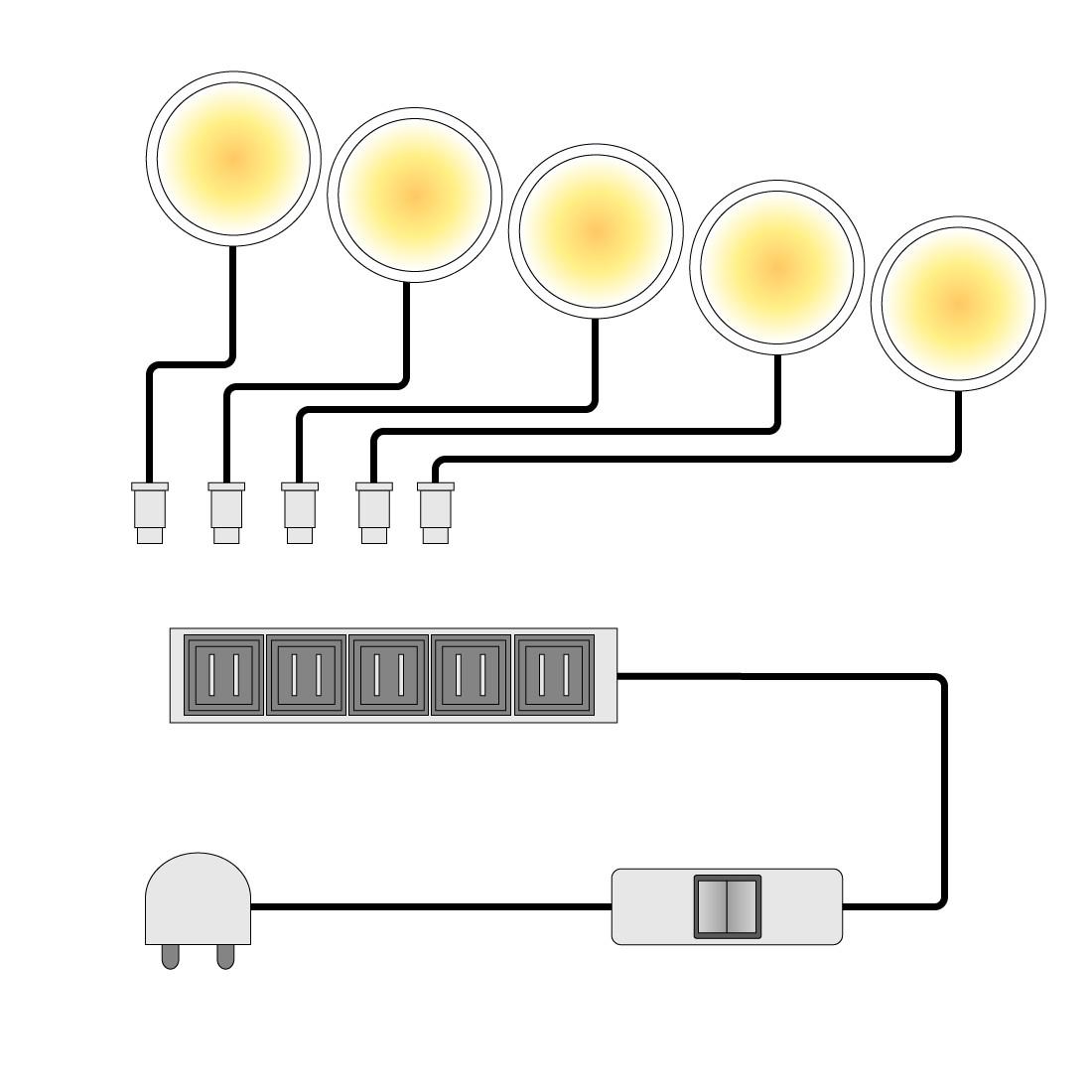 LED-Unterbauspot Glow (5er-Set) | Lampen > Strahler und Systeme > Möbelaufbaustrahler | Siehe shop | Trendteam