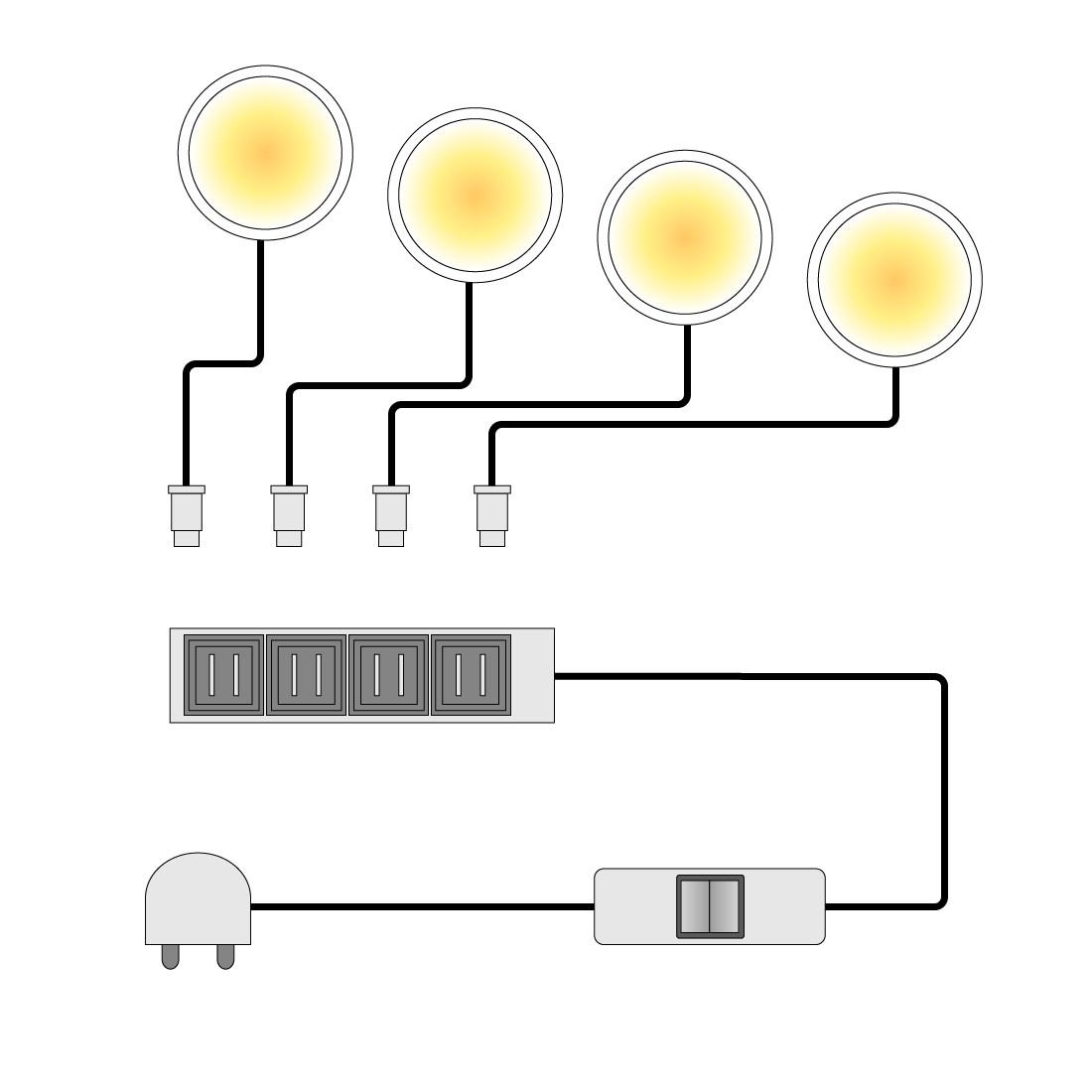 Image of Faretti LED sottopensile Across, Fredriks