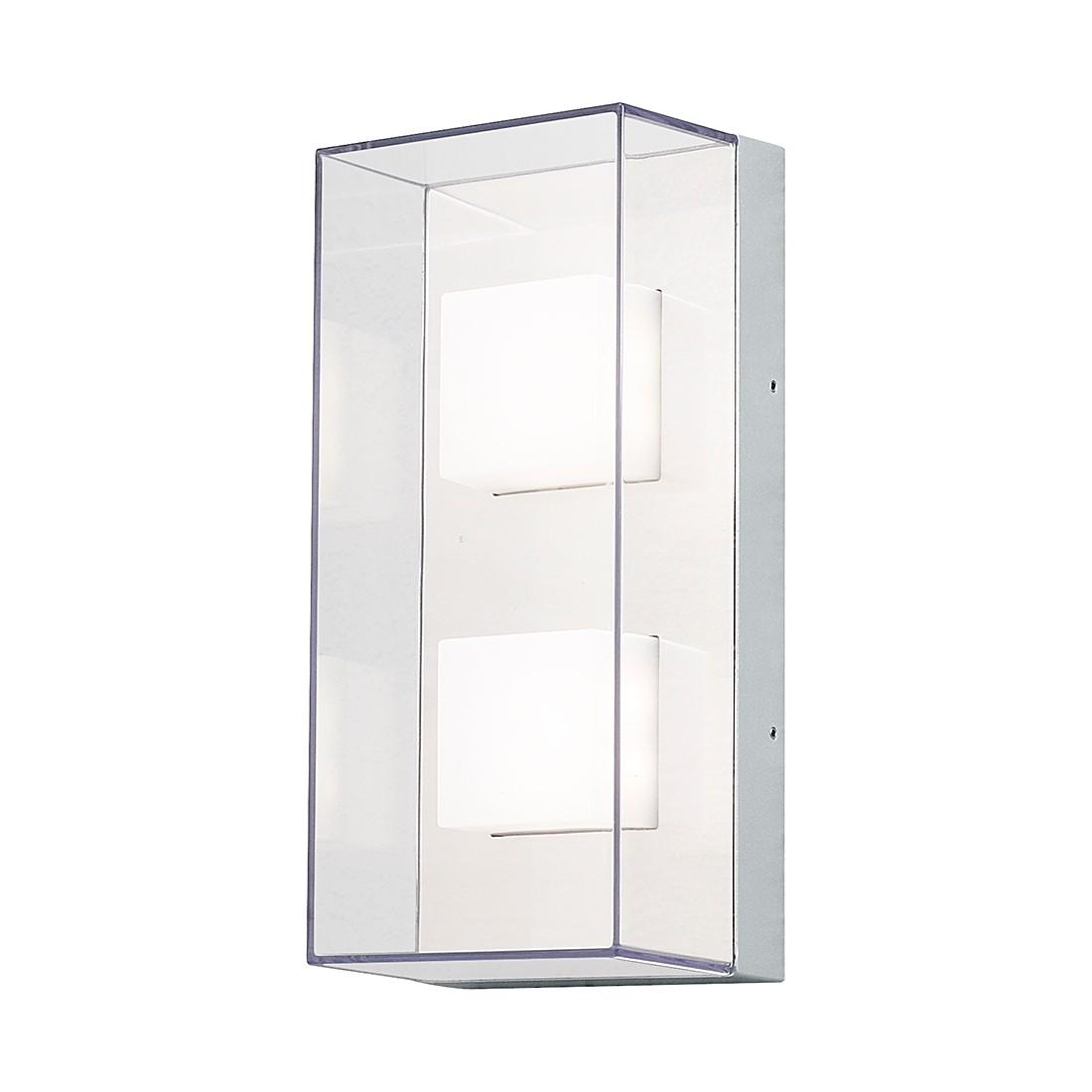 EEK A+, LED Wand- Deckenleuchte Sanremo - Aluminium/Glas - 8-flammig, Konstsmide