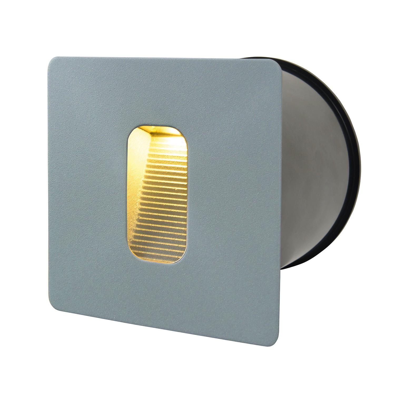home24 LED-Wandeinbaustrahler II 1-flammig | Lampen > Strahler und Systeme > Einbaustrahler | Silber | Metall | Naeve