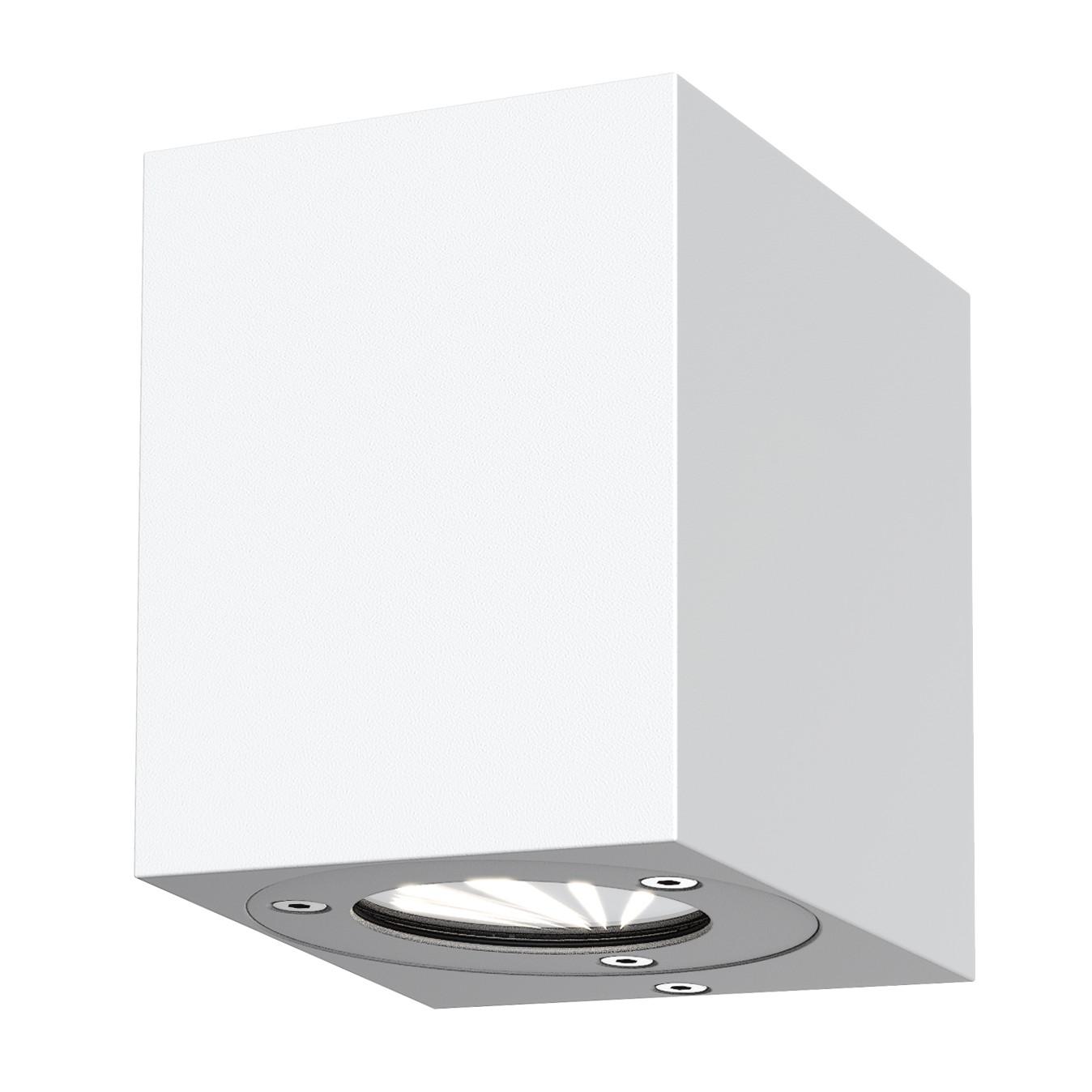 EEK A+, LED-Außenleuchte Kanto - Glas / Stahl - 2-flammig - Weiß, Nordlux
