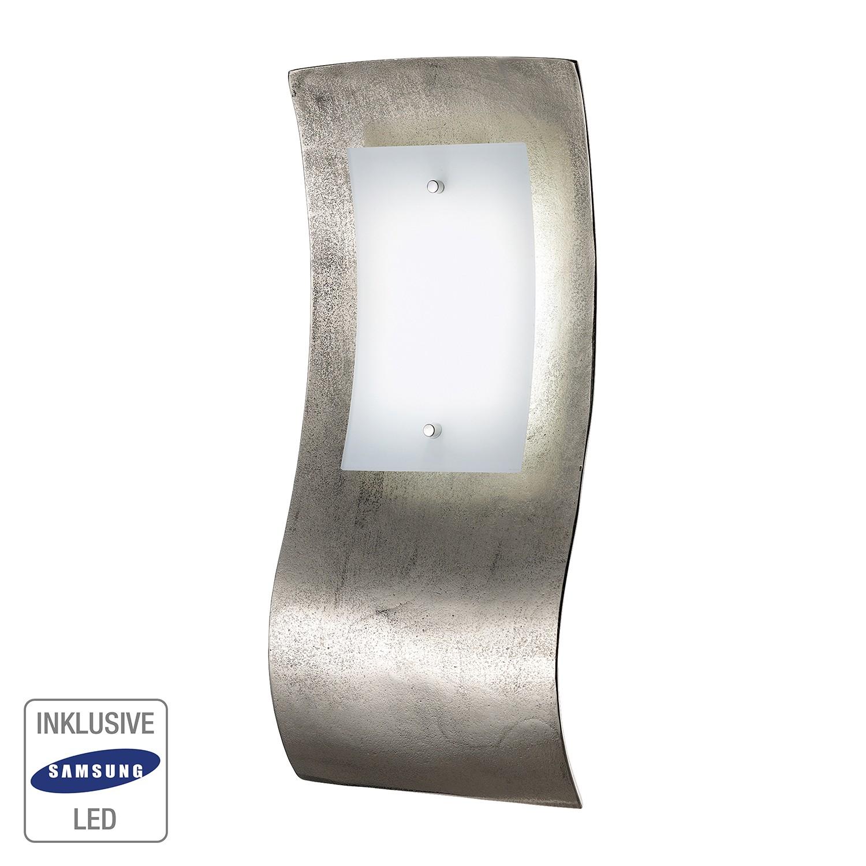 EEK A+, LED-Wandleuchte SHINE-ALU - Silber Matt, Fischer Leuchten