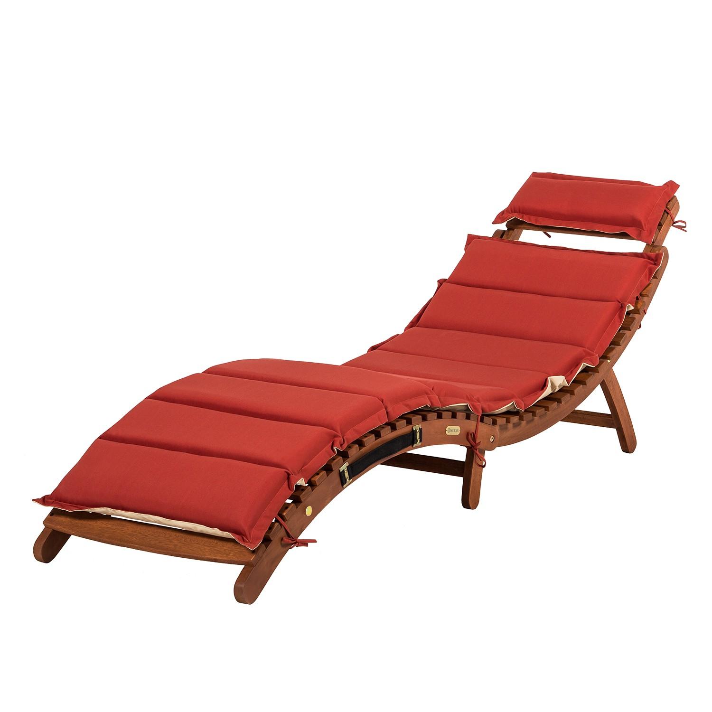 Liege Ipanema - Eukalyptus massiv/Textil Rot, Merxx