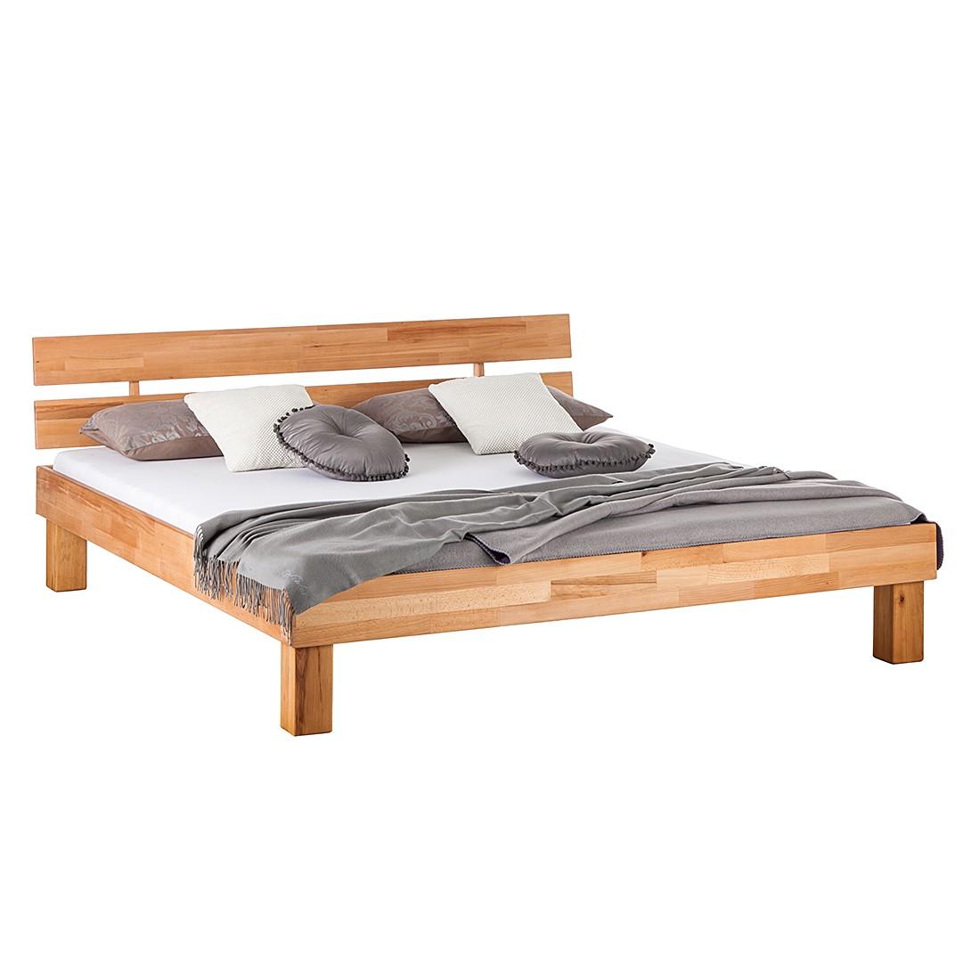 goedkoop Massief houten bed AresWOOD 180 x 200cm Met hoofdeinde Kernbeukenhout Ars Natura