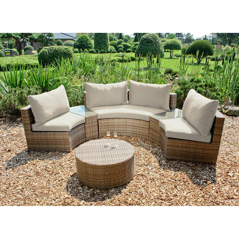 home24 Loungegruppe Talavera (6-teilig)   Garten > Gartenmöbel > Loungemöbel-Garten   Braun   Polyrattan   Garden Pleasure