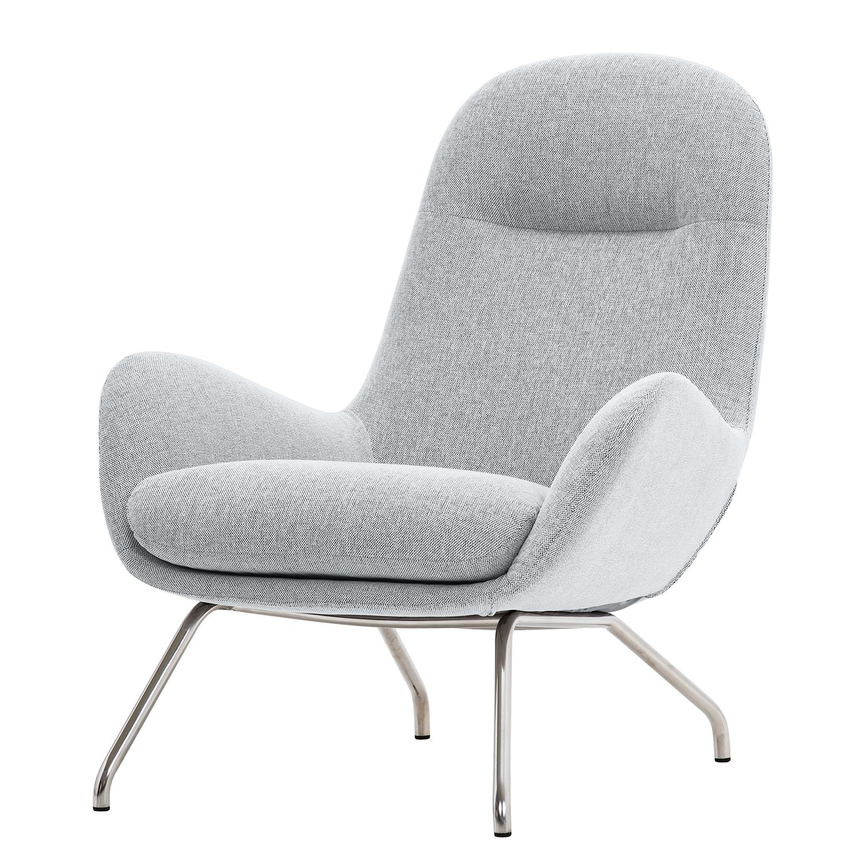 goedkoop Loungefauteuil Lannister geweven stof Stof Anda II Zilverkleurig Studio Copenhagen