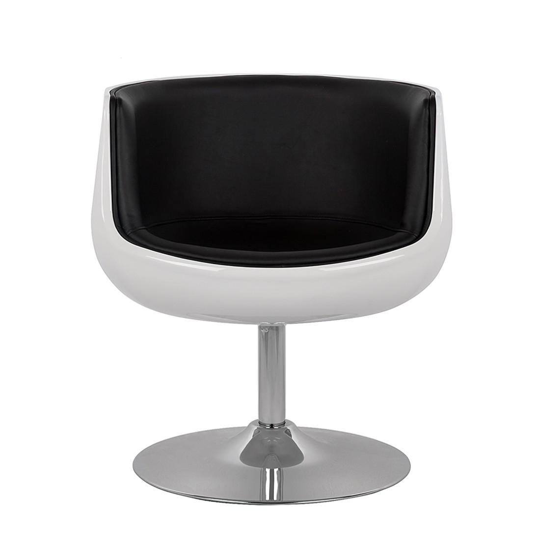 Lounge Sessel Schwarz Weiß
