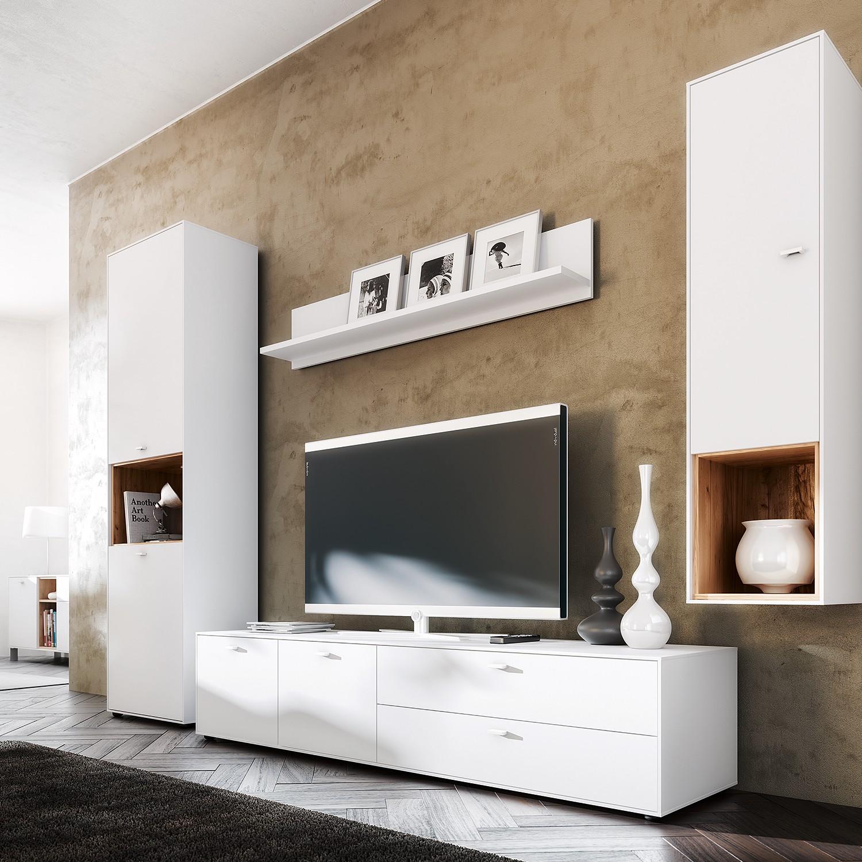 home24 TV-Lowboard Design2 II | Wohnzimmer > TV-HiFi-Möbel | Weiss | Holzwerkstoff | Schoener Wohnen Kollektion