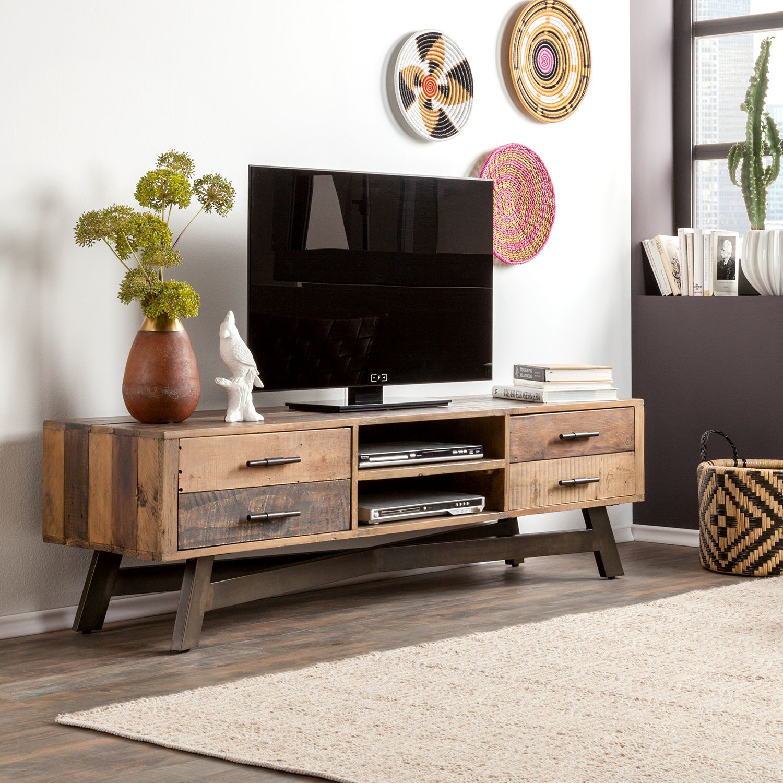 Lowboard Tamati II | Wohnzimmer > Schränke > Lowboards | Braun | Massivholz | ars manufacti