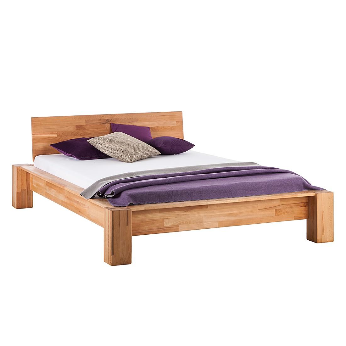 goedkoop Massief houten bed LeeWOOD 140 x 200cm Kernbeuken Ars Natura