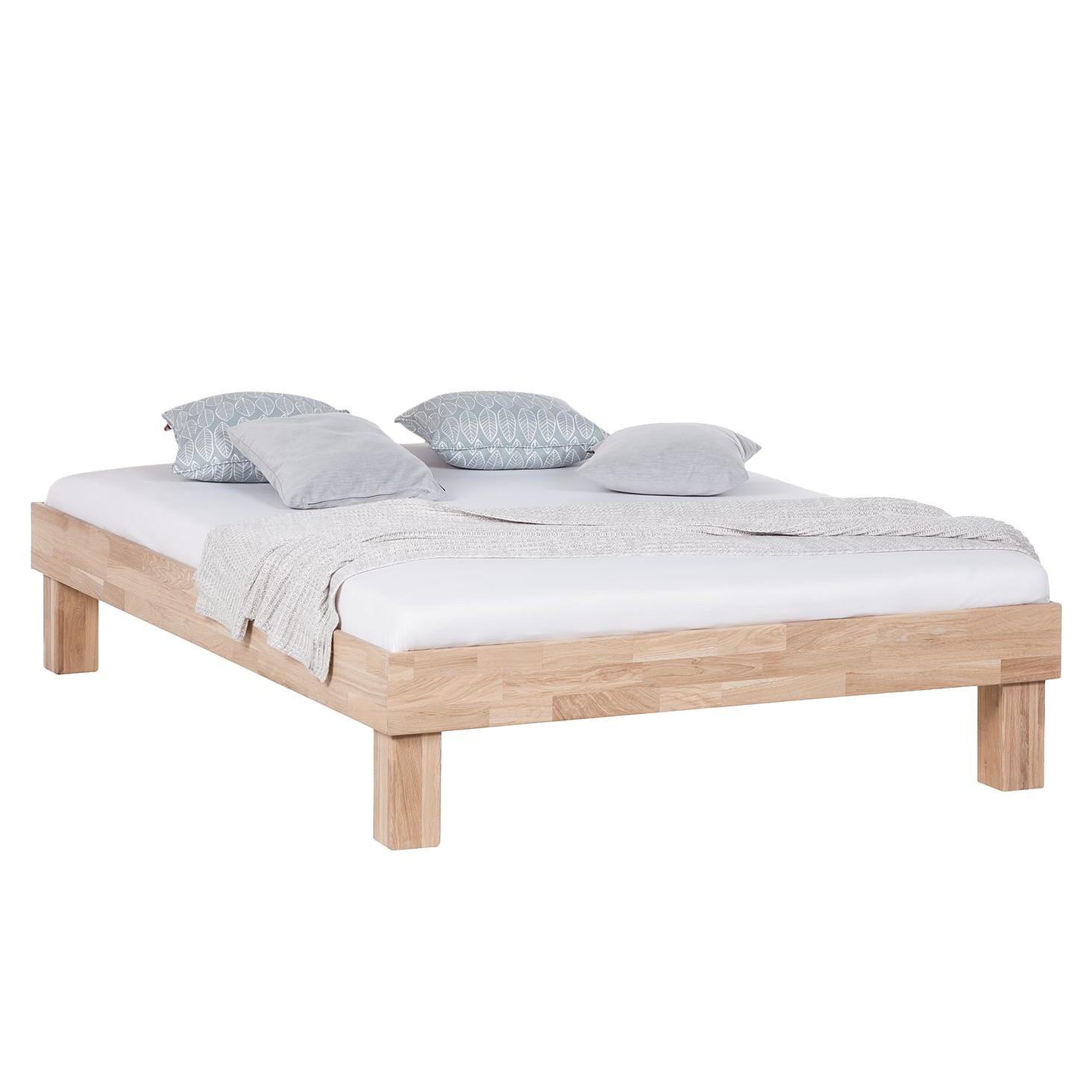 home24 Massivholzbett AresWOOD | Schlafzimmer > Betten > Massivholzbetten | Beige | Massivholz | Ars Natura