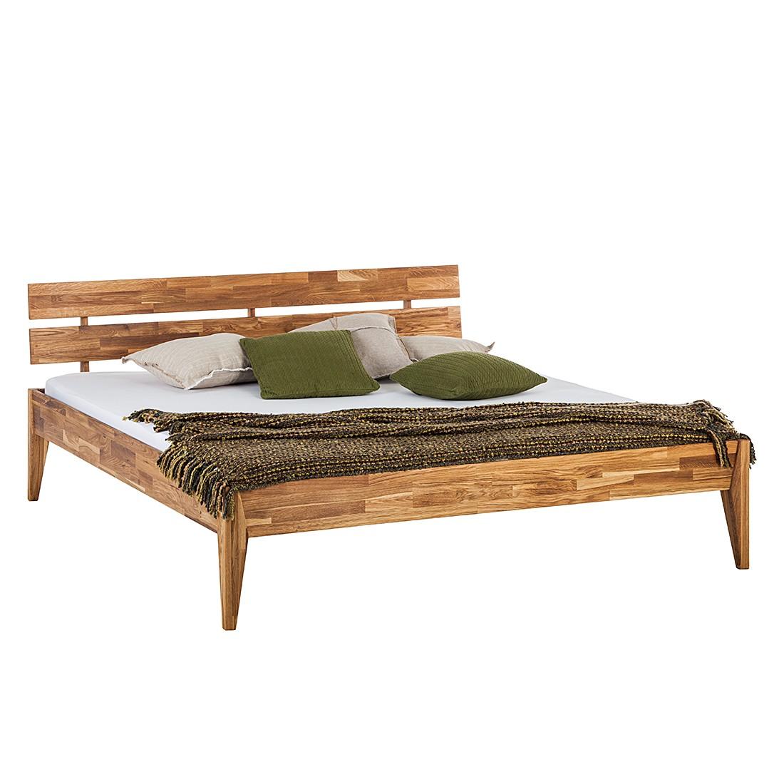 Lit en bois massif JillWOOD - 160 x 200cm - Chêne, Ars Natura