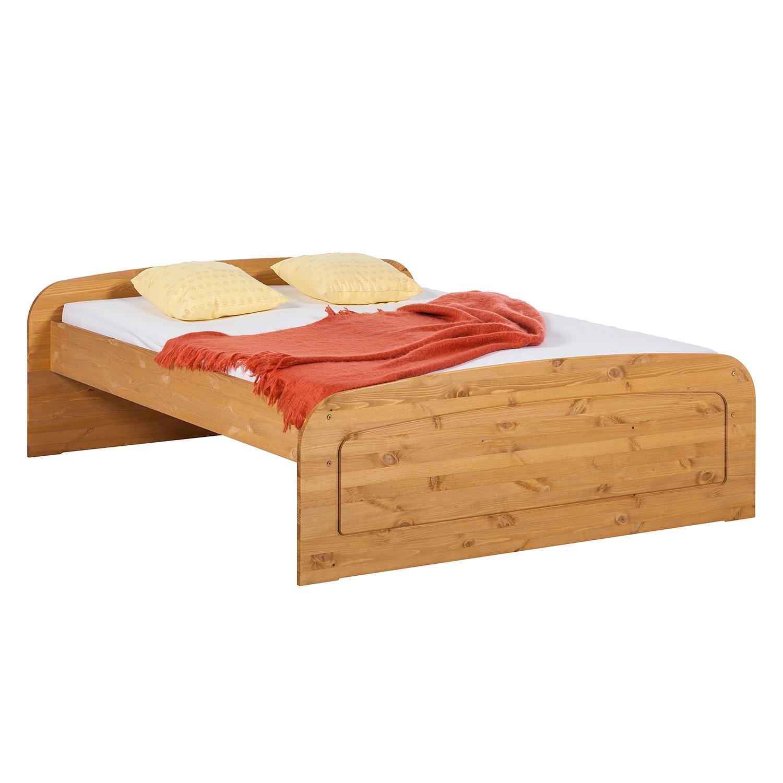 goedkoop Massief houten bed Fia massief grenenhout 180 x 200cm Natuurlijk gelakt en gebeitst grenenhout Lars Larson