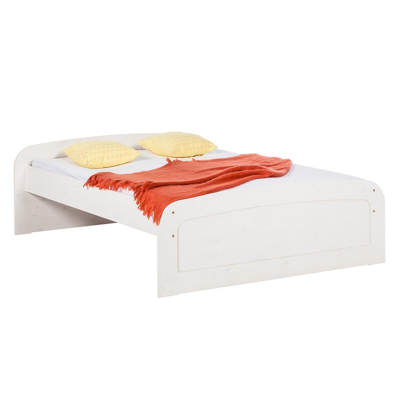 goedkoop Massief houten bed Fia massief grenenhout 180 x 200cm Wit grenenhout Lars Larson