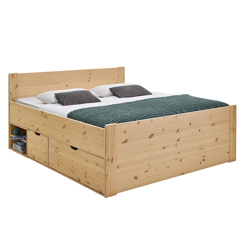 goedkoop Massief houten bed Jana Grenenhout Steens
