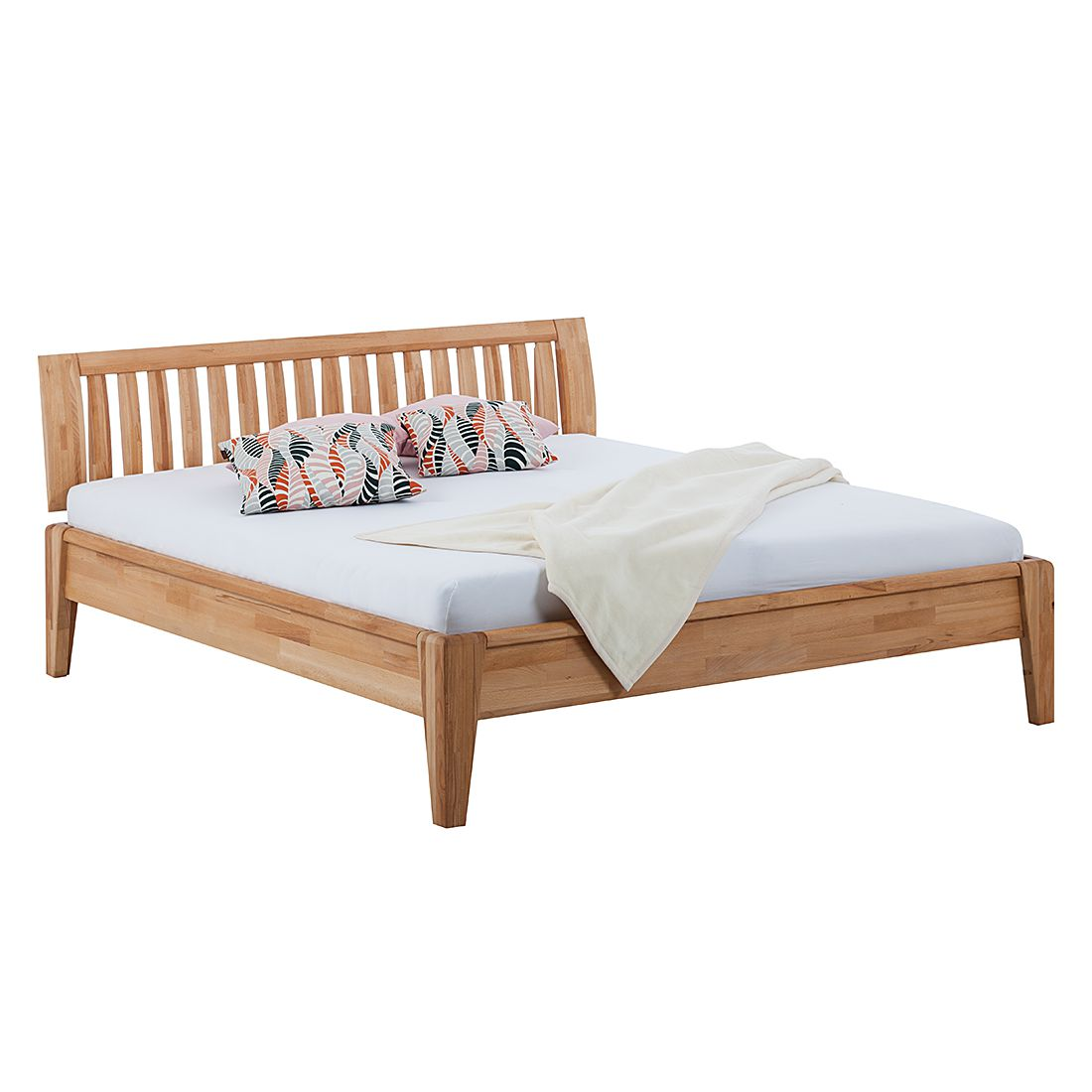 goedkoop Massief houten bed LayaWOOD 160 x 200cm Kernbeuken Ars Natura