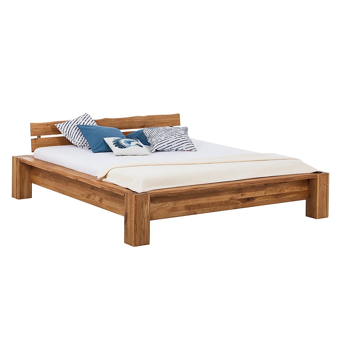 goedkoop Massief houten bed MaeWOOD geolied massief eikenhout 180 x 200cm Ars Natura
