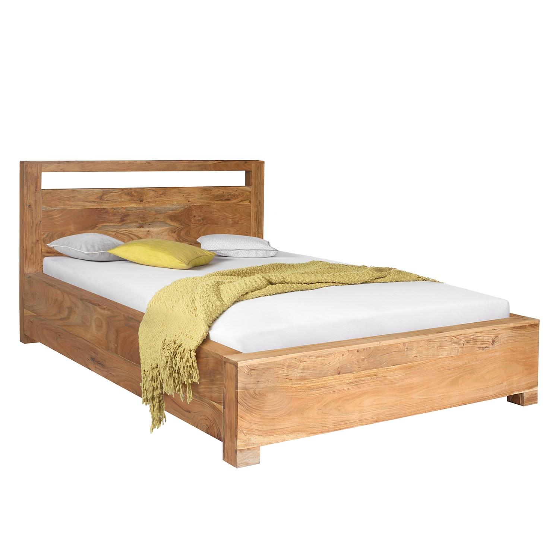 goedkoop Massief houten bed Maldon massief acaciahout acaciahout 140 x 200cm Ars Natura
