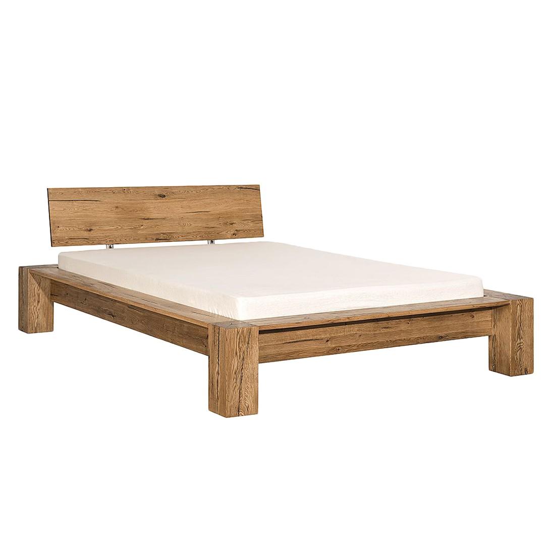 goedkoop Massief houten bed Morton massief moeraseikenhout 140 x 200cm Neue Modular