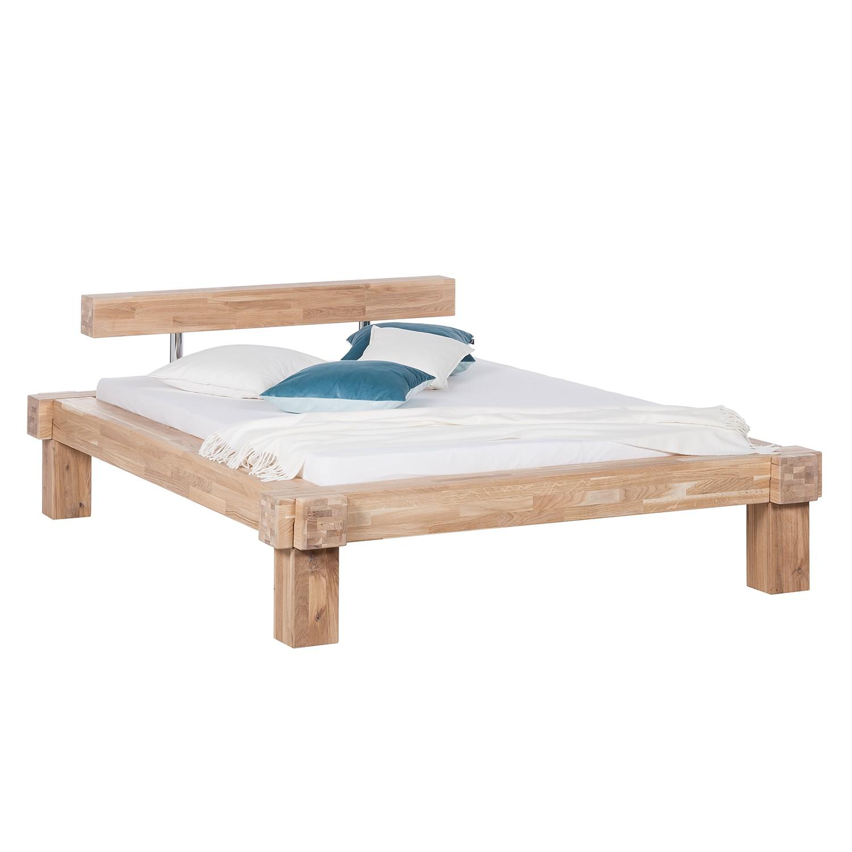 goedkoop Massief houten bed Viktoria 140 x 200cm Wit geolied eikenhout Ars Natura