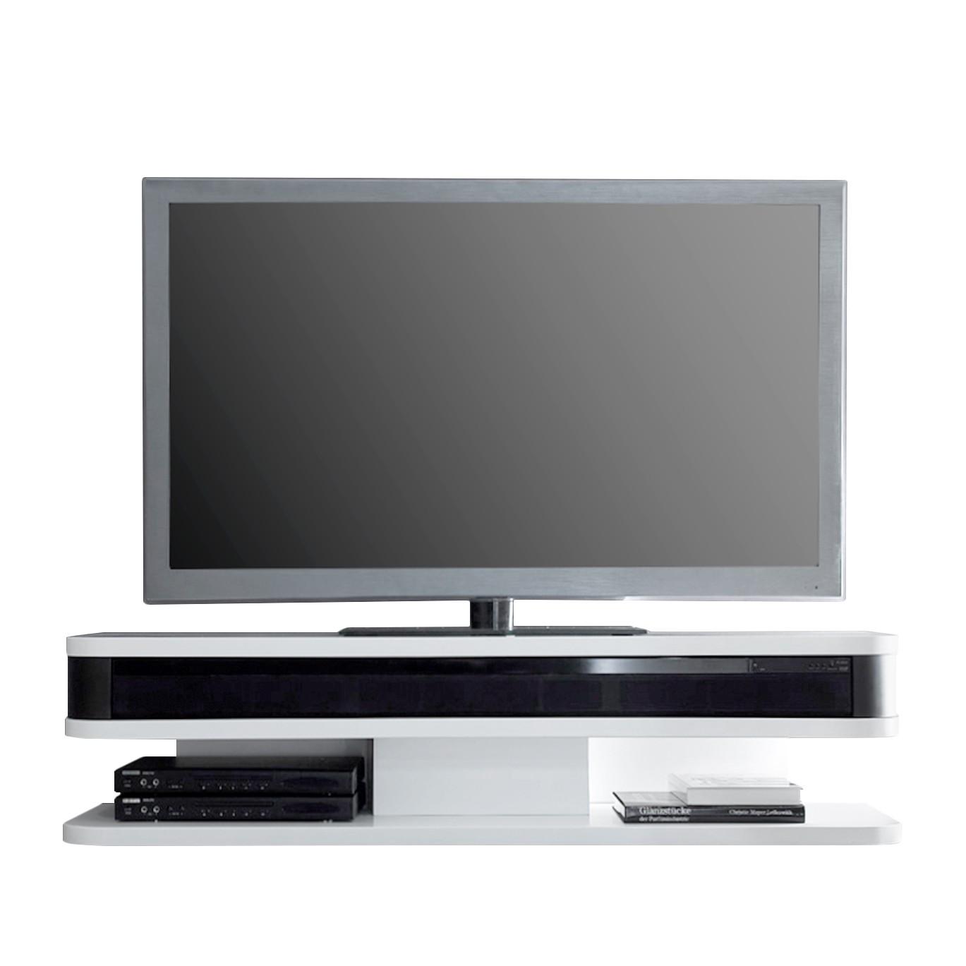 Meuble TV Lightspeed I - Blanc mat / Noir, loftscape