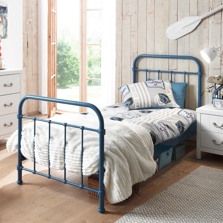 home24 Metallbett New York | Schlafzimmer > Betten > Metallbetten | Blau | Vipack