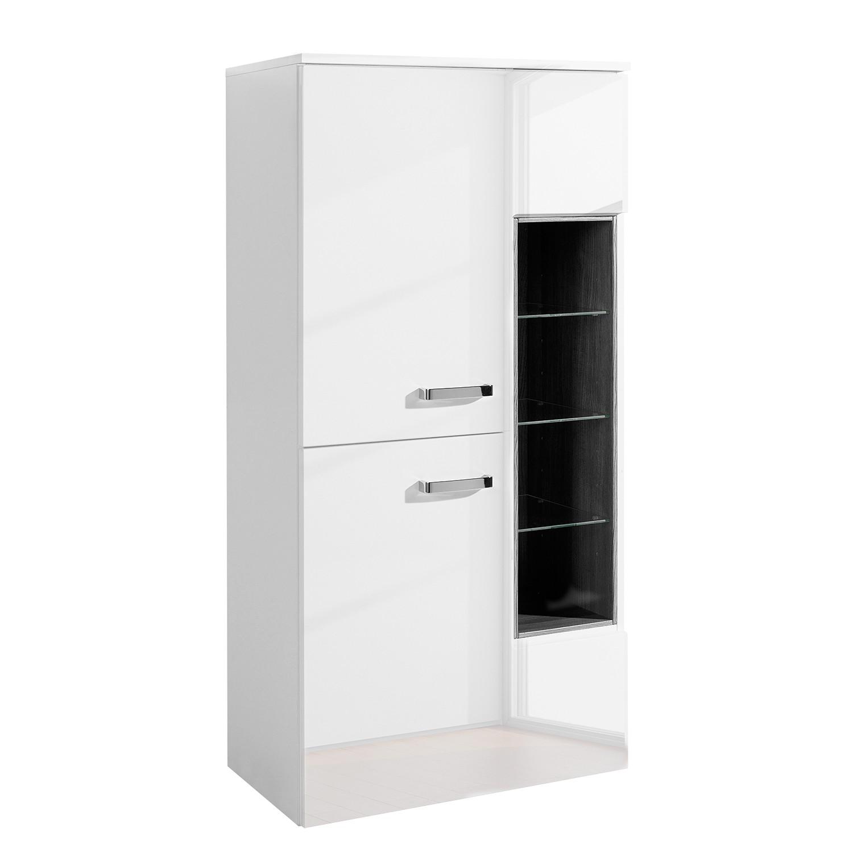 Armoire midi Ancona - Blanc brillant / Blanc, Giessbach