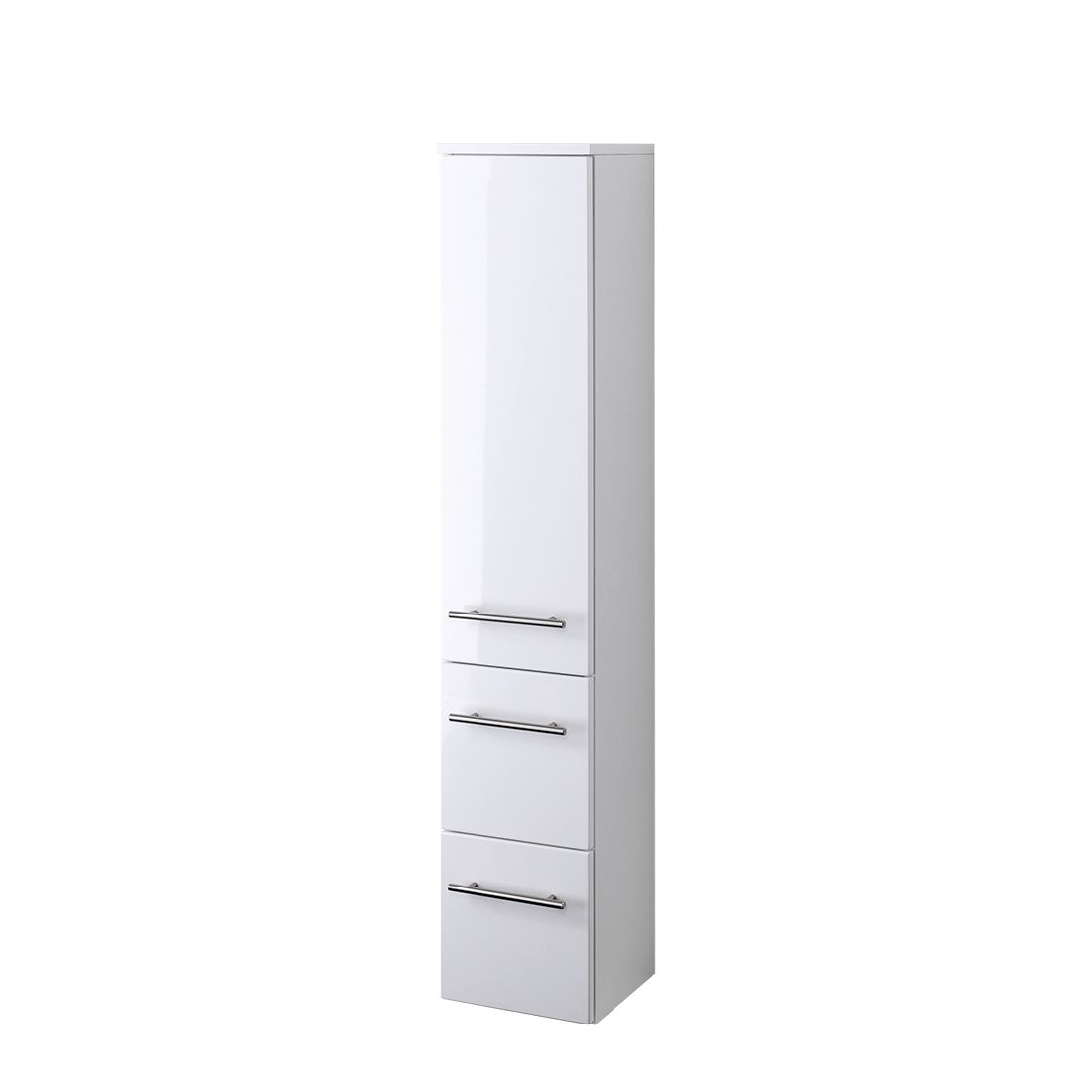 Armadietto da bagno Kopenhagen - Bianco lucido/Bianco - 25 cm, Giessbach