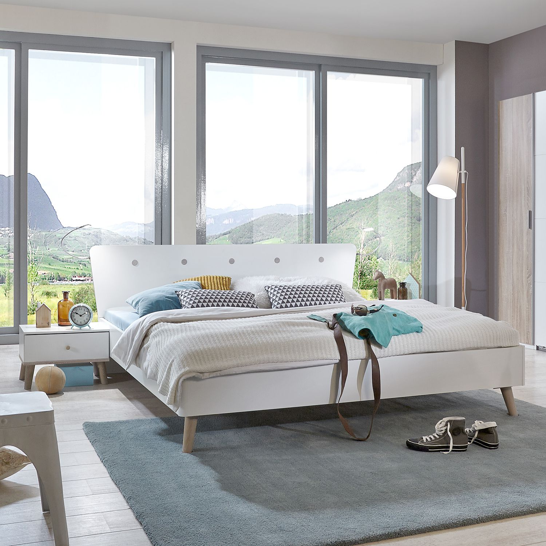 Schlafzimmermöbel - Bettanlage Bergen Classic (3-teilig) - Wimex - Weiss