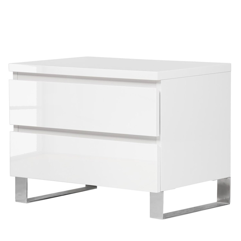 home24 Nachtkommode Bianco I | Schlafzimmer > Kommoden | Weiss | Holzwerkstoff | Fredriks