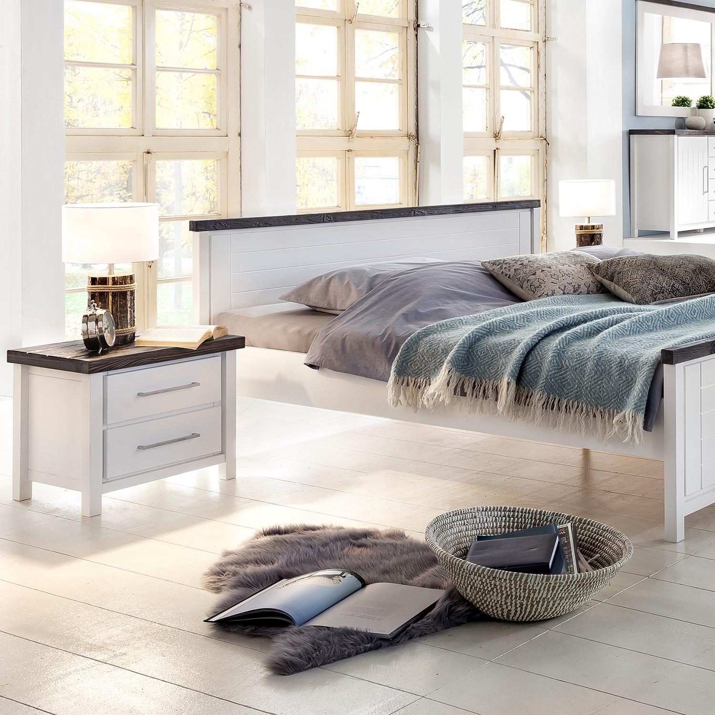 Schlafzimmermöbel - Nachtkommode Lillerod - Ridgevalley - Weiss
