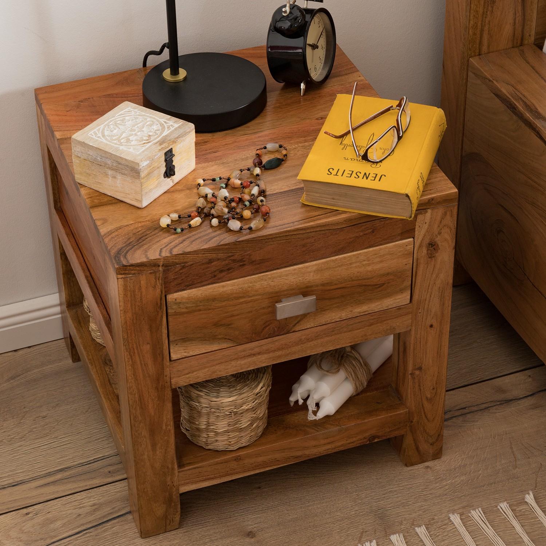 Schlafzimmermöbel - Nachtkommode Maldon - Ars Natura - Braun