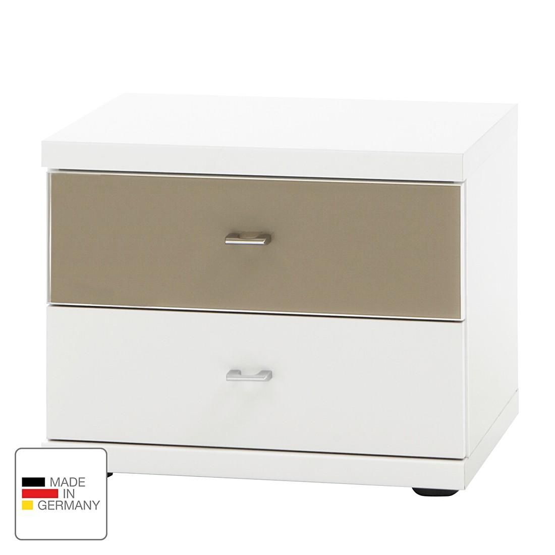 Comodino Miro - Bianco alpino/Color Sahara, Wiemann