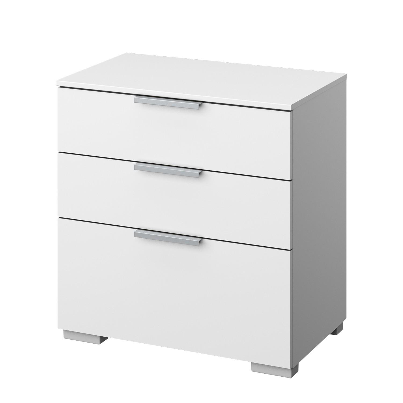 Comodino SKØP IV - Bianco alpino - Alluminio, SKØP