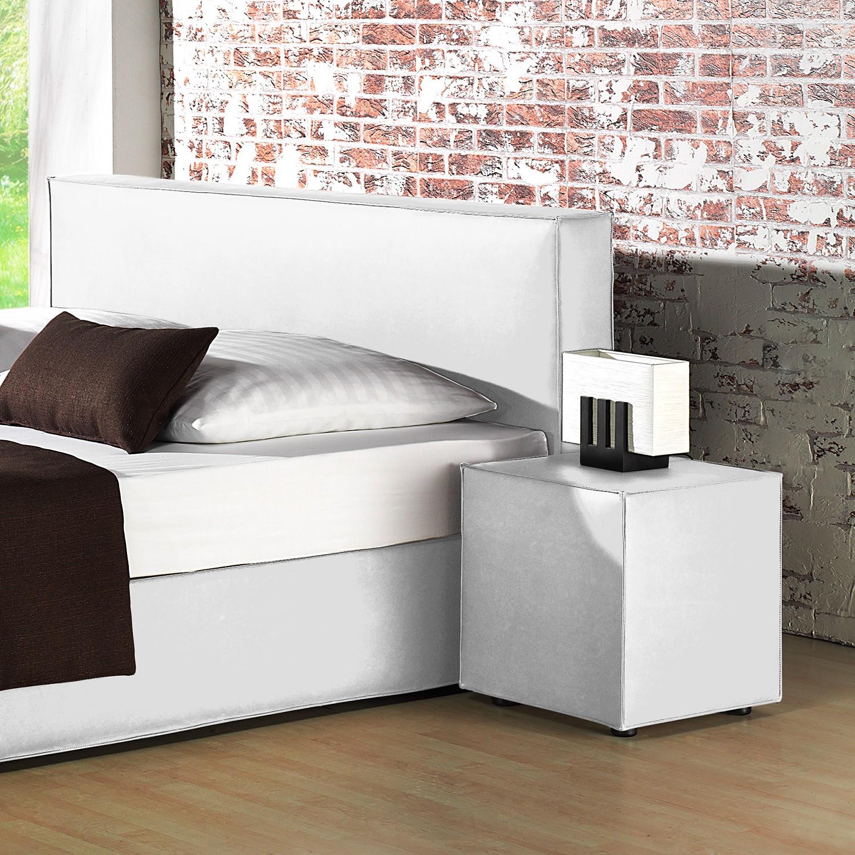 home24 Nachtkonsole Annabel Kunstleder | Schlafzimmer > Nachttische | Weiss | loftscape